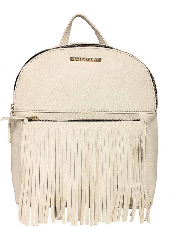 Synthetic Pearl Women Backpack - Offwhite