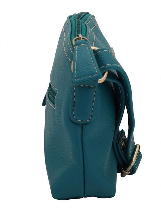 Light Women Synthetic Sling Bag - Turquoise