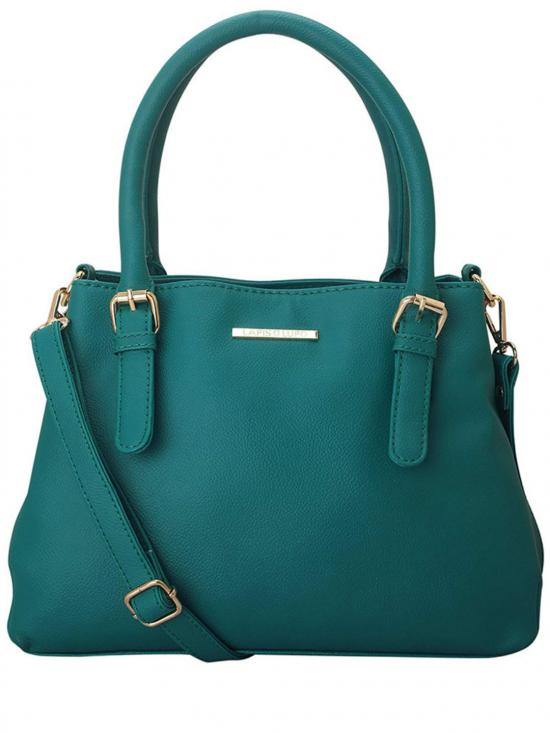 Cyan Women Synthetic Handbag - Turquoise
