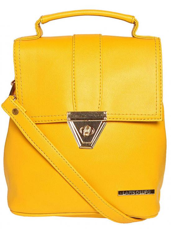 Synthetic  Candy Women Backpack - Yellow