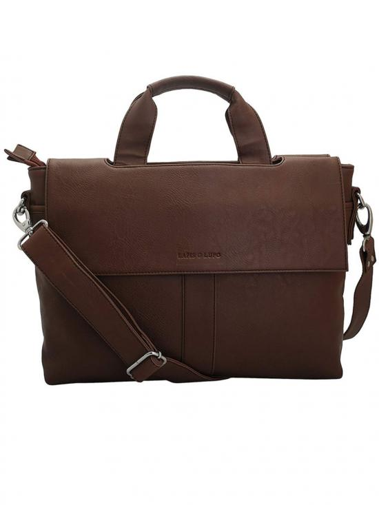 Lapis O Lupo Synthetic  Apricot Unisex Laptop Bag - Tan