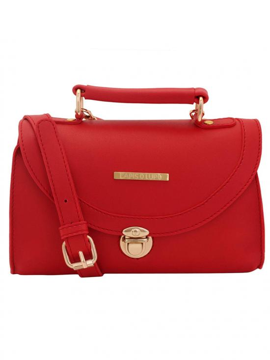Lapis O Lupo Tuscan Red Women Synthetic Sling Bag - Red
