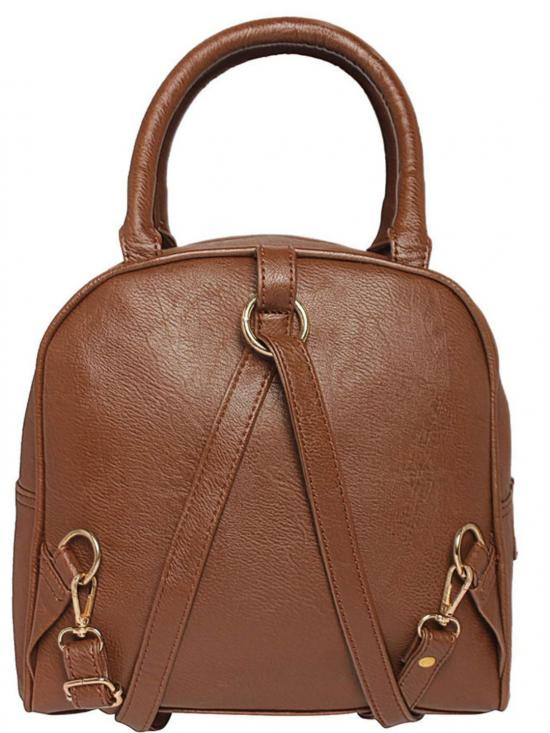 Iso Synthetic lated Ominous Women Backpack - Tan