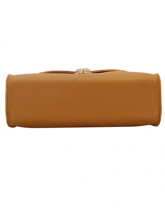Gloomy Yellow Women Synthetic Sling Bag - Yellow