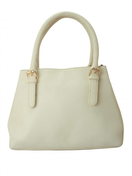 Navajo White Women Synthetic Handbag - Off White