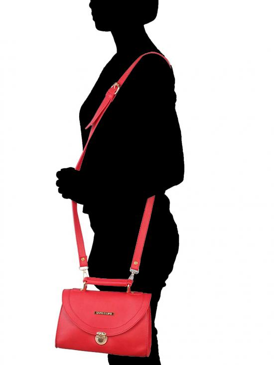 Tuscan Red Women Synthetic Sling Bag - Red