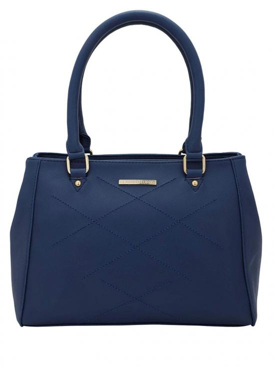 Context Embroidery Women Synthetic Handbag -Blue