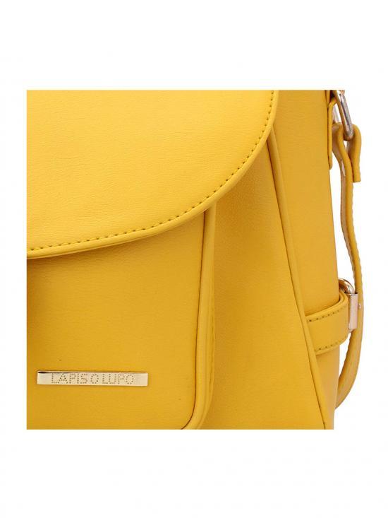 Jaune Women Synthetic Handbag - Yellow