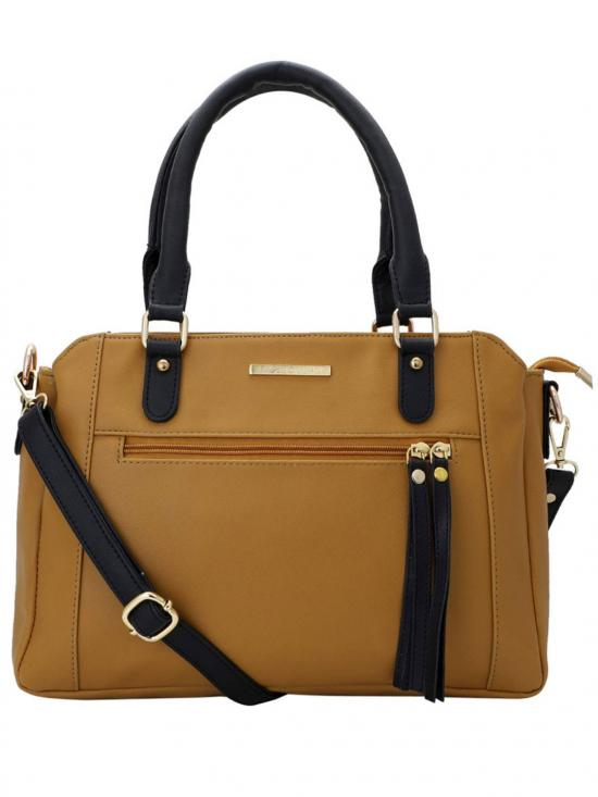 Lapis O Lupo Women Synthetic Handbag - Mustard
