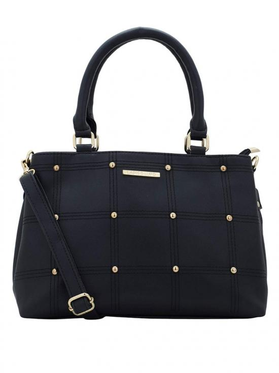 Synthetic  Sewing Embroidery Women Handbag -Black