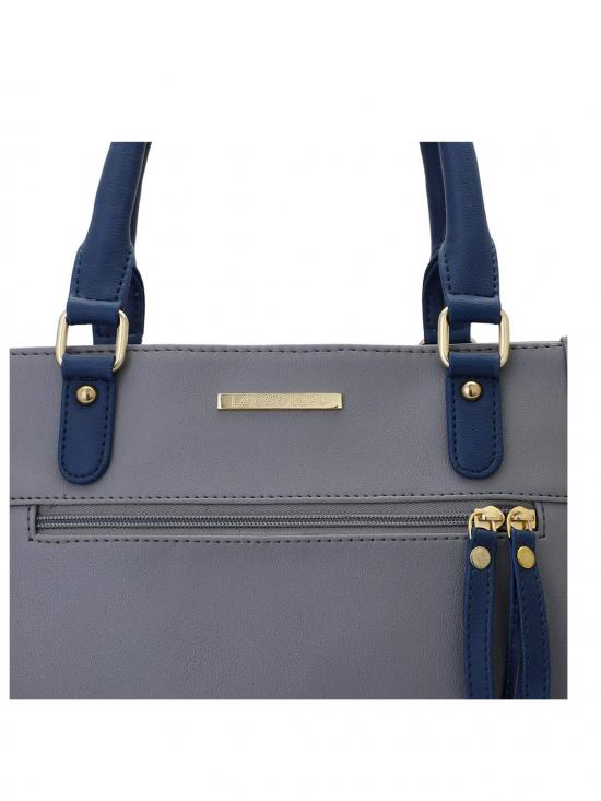 Women Synthetic Handbag - Grey