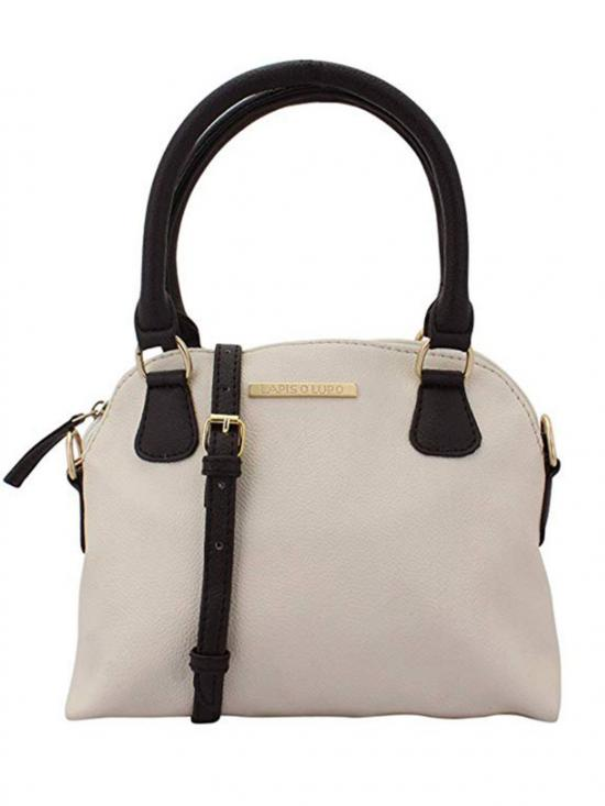 Ivory Women Neno Synthetic Handbag - Off White