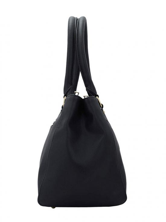 Context Embroidery Women Synthetic Handbag - Black