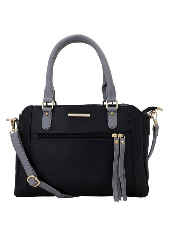 Women Synthetic Handbag - Black