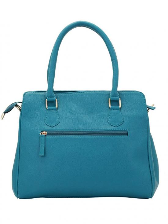 Synthetic Quilt Women Handbag -Turquoise