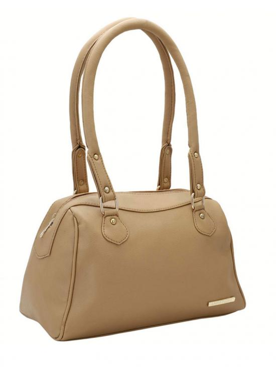 Lapis O Lupo Women Synthetic Handbag - Beige