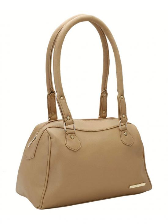 Women Synthetic Handbag - Beige