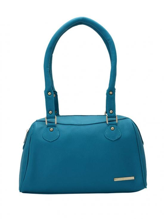 Women Synthetic Handbag - Turquoise