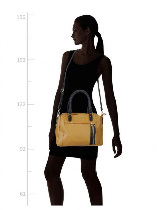 Lapis O Lupo Women Synthetic Handbag - Mustard