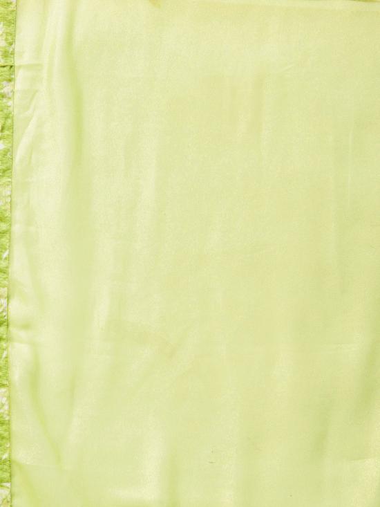 Green and White Printed Kurta set for Women