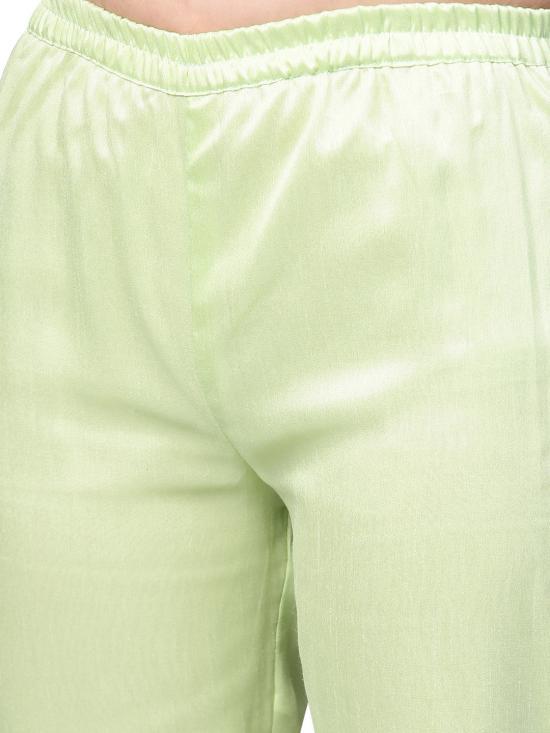 Green Classy Faux Silk Combo with Traditional Bandhini Print Dupatta