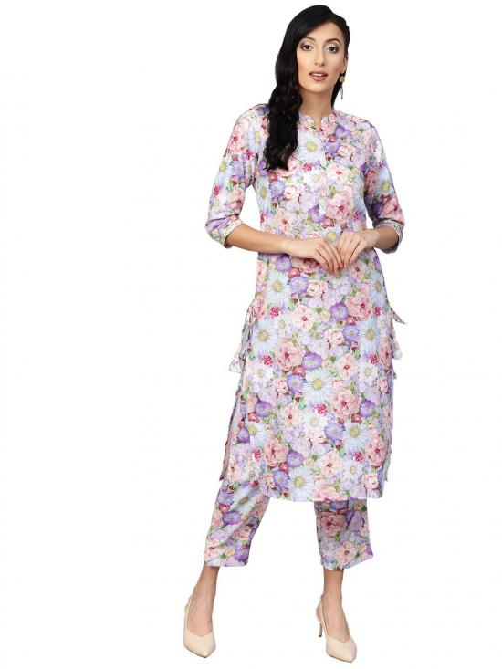 Ahalyaa Floral Printed Kurta set for Women