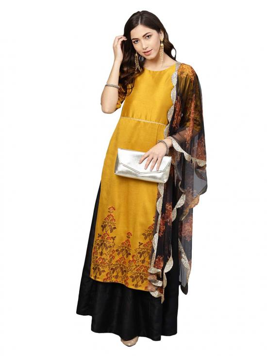 Women Mustard Kurta Set for Women