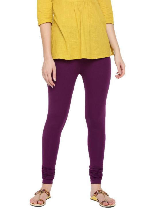 De Moza Churidar Leggings Dark Purple
