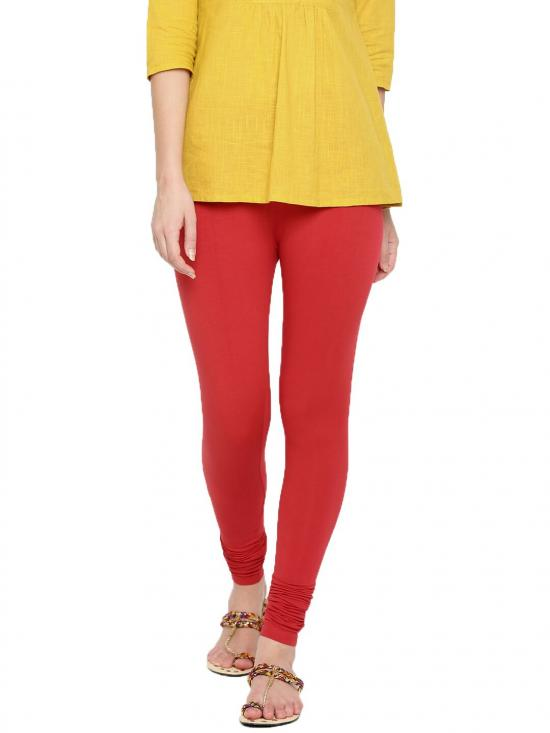 De Moza Churidar Leggings Light Red