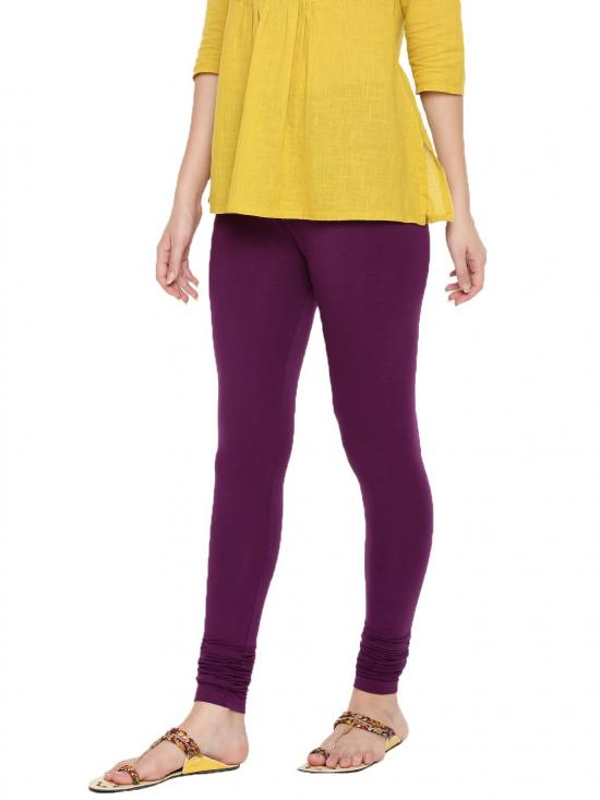 De Moza Churidar Leggings Dark Purple