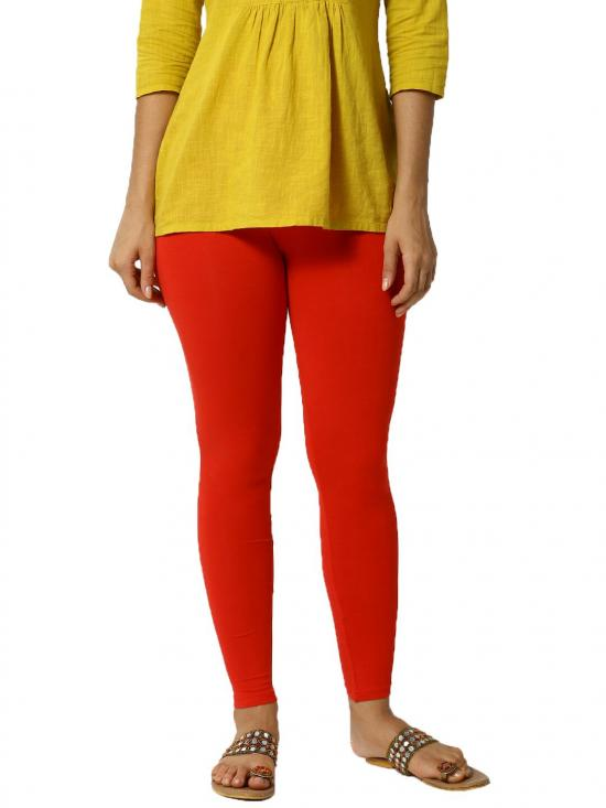 De Moza Ankle Length Leggings Red