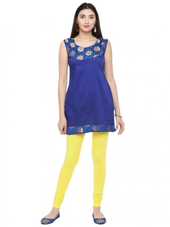 De Moza Churidar Leggings Lemon Yellow