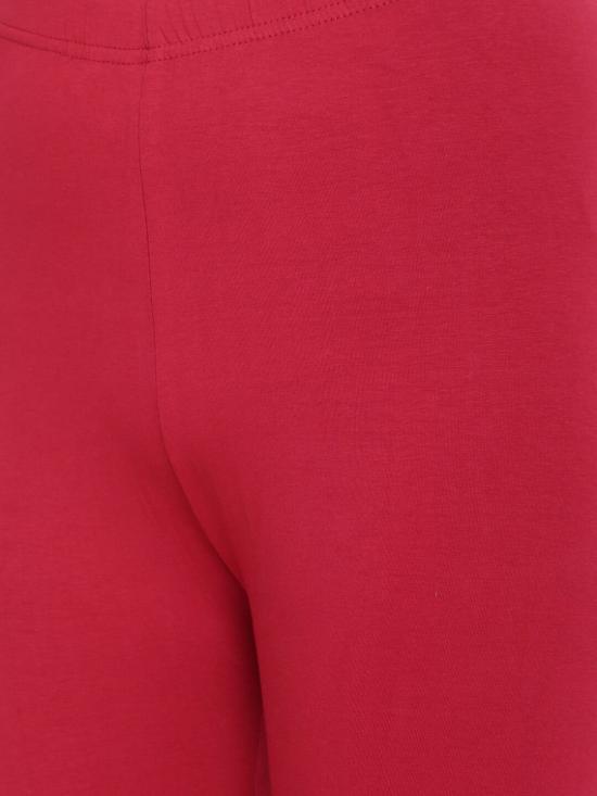 De Moza Churidar Leggings Chilli Red