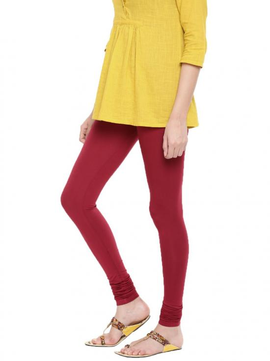 De Moza Churidar Leggings Maroon