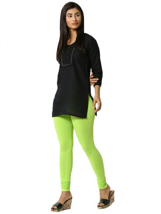 De Moza Churidar Leggings Leaf Green