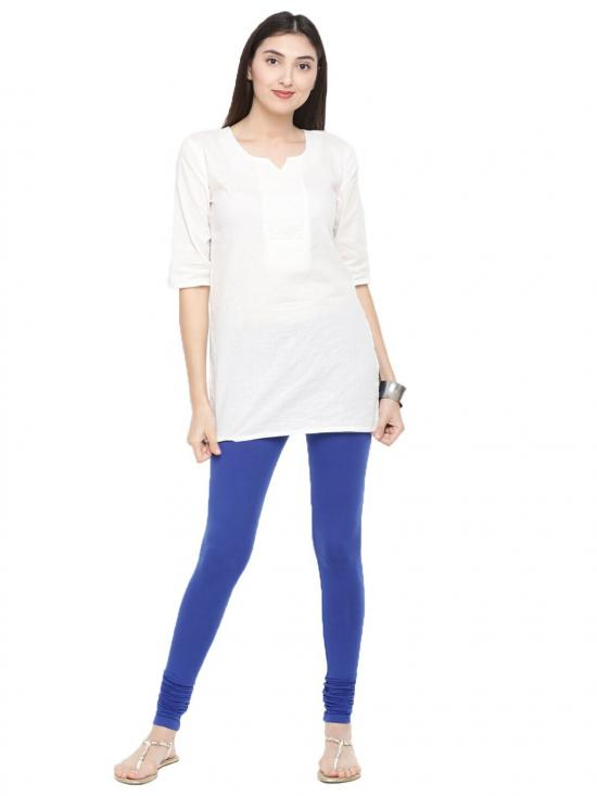 De Moza Churidar Leggings Royal Blue