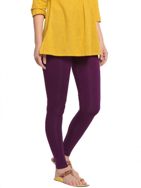 De Moza Ankle Length Leggings Dark Purple
