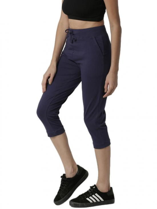 De Moza Fashion Pants Navy Blue