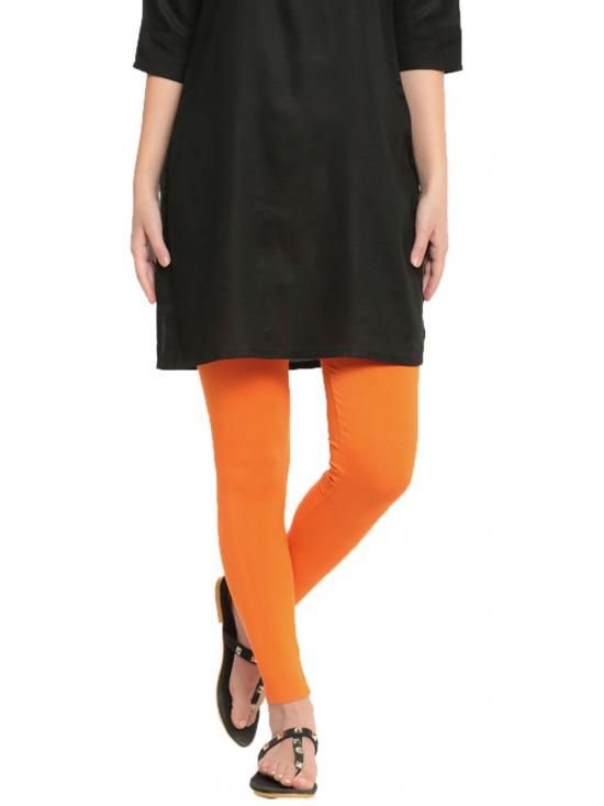 De Moza Ankle Length Leggings Orange