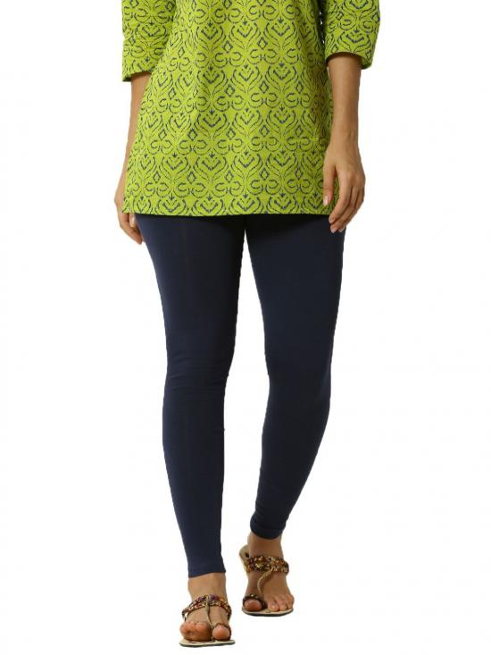 De Moza Ankle Length Leggings Dark Navy Blue