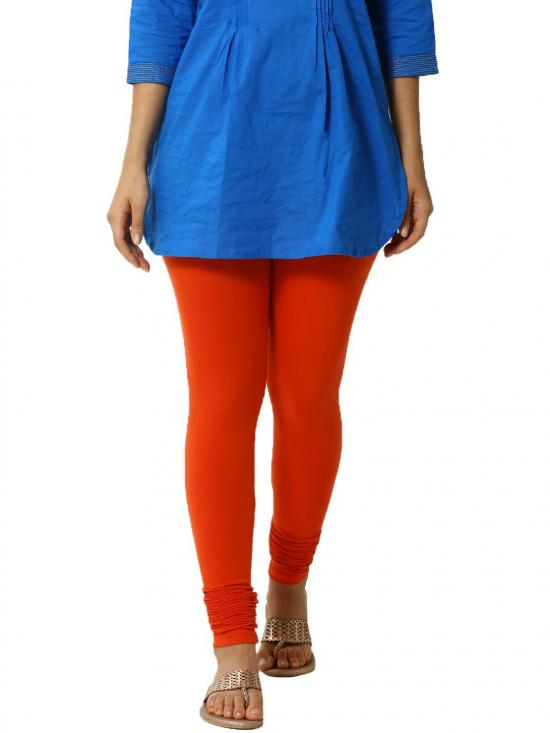 De Moza Churidar Leggings Rust Orange