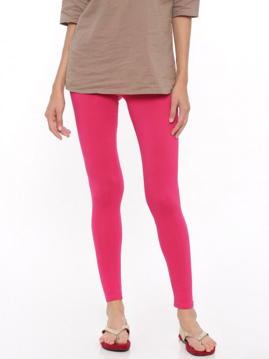 De Moza Ankle Length Leggings Fuchsia