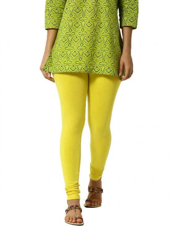 De Moza Ankle Length Leggings Lemon Yellow