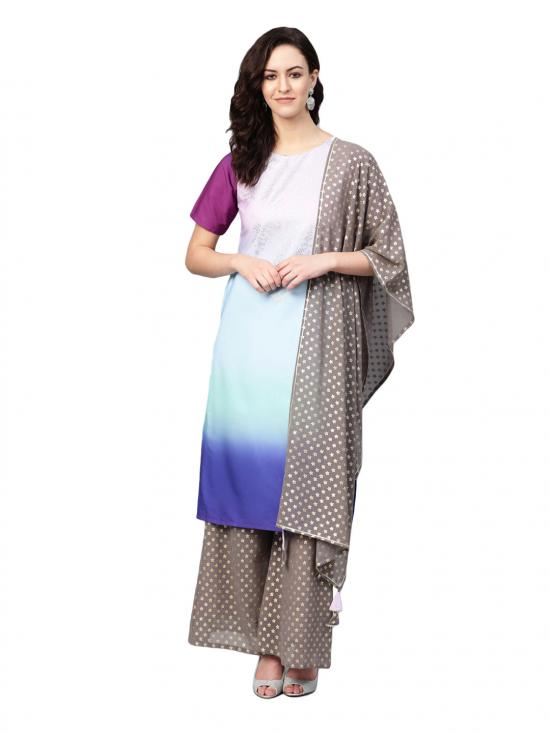 Women Multi Colour Straight Kurta Set