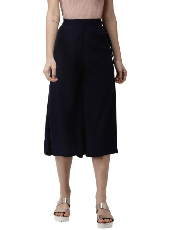 De Moza Women's Culottes Dark Navy Blue