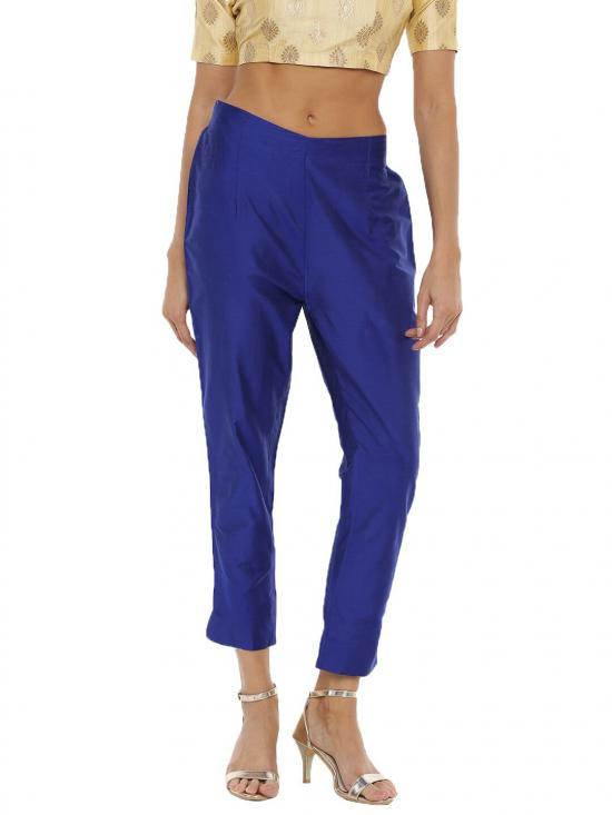 De Moza Women's Cigarette Pant Royal Blue
