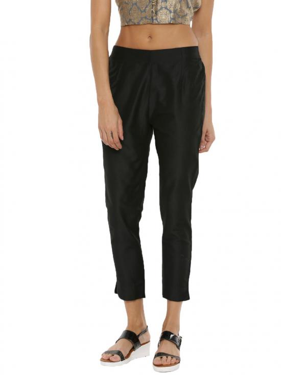 De Moza women's Cigarette pant Black