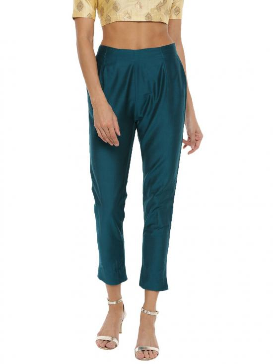 De Moza Women's Cigarette Pant Bottle Green