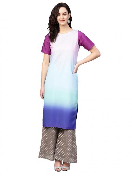 Women Multi Colour Straight Kurta Set