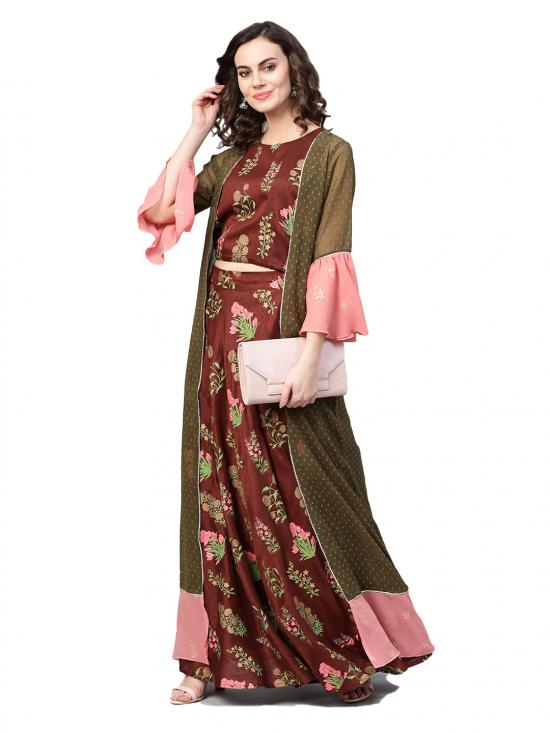 Women Printed Indo Western Set From Ahalyaa